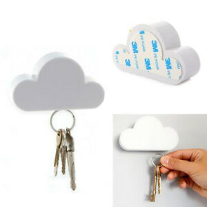 Novelty Key Holder Hanger White Cloud Shape Magnetic Magnet Home Wall Decorate U
