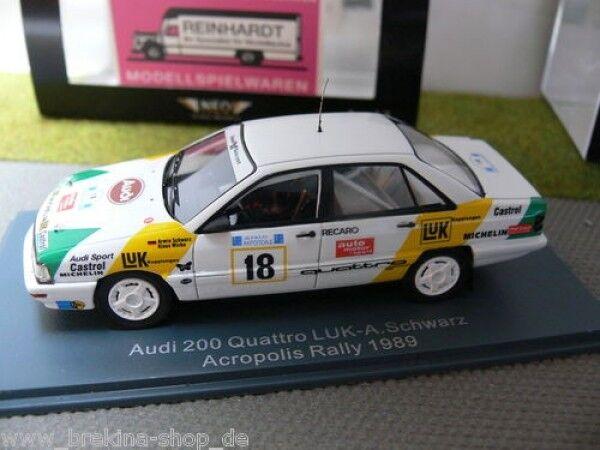 1 43 NeoI 200 quattro LUK-A. Noir Acropole rally 1989