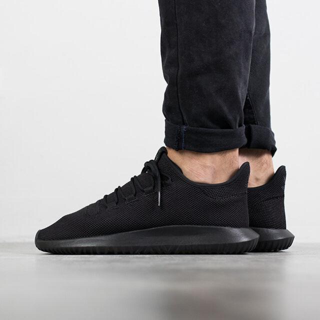 4ee764e8202d adidas Originals Tubular Shadow Triple Black Men Running Shoes ...