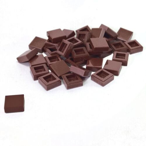 35 NEW LEGO Tile 1 x 1 with Groove Reddish Brown