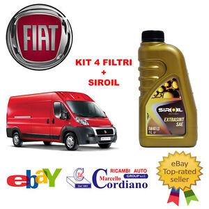 KIT-4-FILTRI-TAGLIANDO-FIAT-DUCATO-2-3-MJT-250-96-KW-131-CV-OLIO-SIROIL-5W40