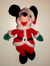 Walt Disney Santa Mickey Mouse - 10 Inch Plush Beanie Toy  (W01)