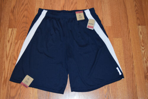 NWT Mens REEBOK Navy White Stripe Exercise Active Athletic Shorts Size L Large
