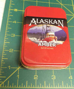 NEW-Alaska-Playing-Cards-in-Tin-Case-Alaskan-Amber-Ale-fishing-boat-pictured
