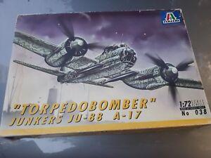 Maqueta-del-TORPEDOBOMBER-JUNKERS-JU-88-A-17-de-ITALERI-escala-1-72-nuevo