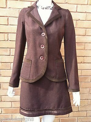 Original Ladies Two Piece Fully Lined Woolen Suit Skirt Jacket Blazer Sizes 8 10 12 14 Sparen Sie 50-70%
