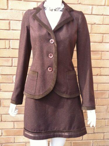 Mesdames deux piece entièrement doublés en Laine Costume Jupe Veste Blazer Taille 8 10 12 14