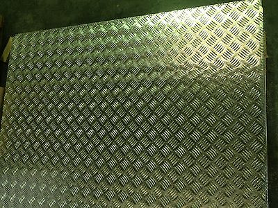 Aluminium Tread plate / Chequer plate 8 x 4 ft - 2500 x 1250 Sheets Delivered