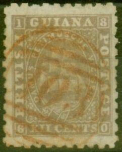 Britannique-Guyane-1867-12c-Brunatre-Gris-SG99-P-10-Tres-Bien-Utilise
