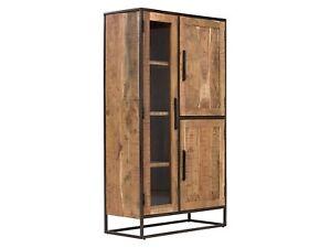Hervorragend Highboard 3 Türen Kommode Vitrine Schrank Akazie Holz hell Möbel FQ21