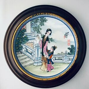 Imperial-Jingdezhen-Porcelain-Beauties-of-the-Red-Mansion-8-Li-wan-1988-Plate