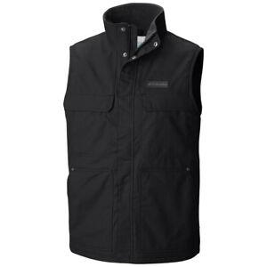 New-Mens-Columbia-034-Larix-Park-034-Water-Resistant-Fleece-Lined-Canvas-Vest