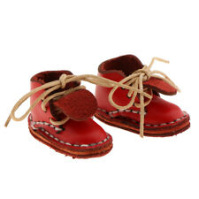 1//6 Cute Ankle Strap PU Leather Shoes 12/'/' Blythe Pulip Azone Dolls Red