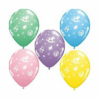 Baby Shower Party Balloons Boy Girl Blue Pink Unisex Decorations Supplies