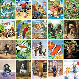 Painting By Numbers Kits Includes Paints Brush Board