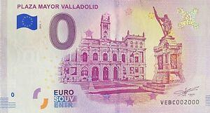 BILLET-0-EURO-PLAZA-MAYOR-VALLADOLID-ESPAGNE-2018-NUMERO-2000