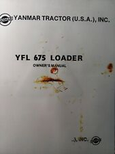 Yanmar Tractor Front End Bucket Loader Yfl 675 Owner Service Amp Parts Manual