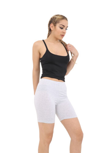 Cotton Leggings 1//2 Length Over-Knee Shorts Active Sport Dance Cycling Dance