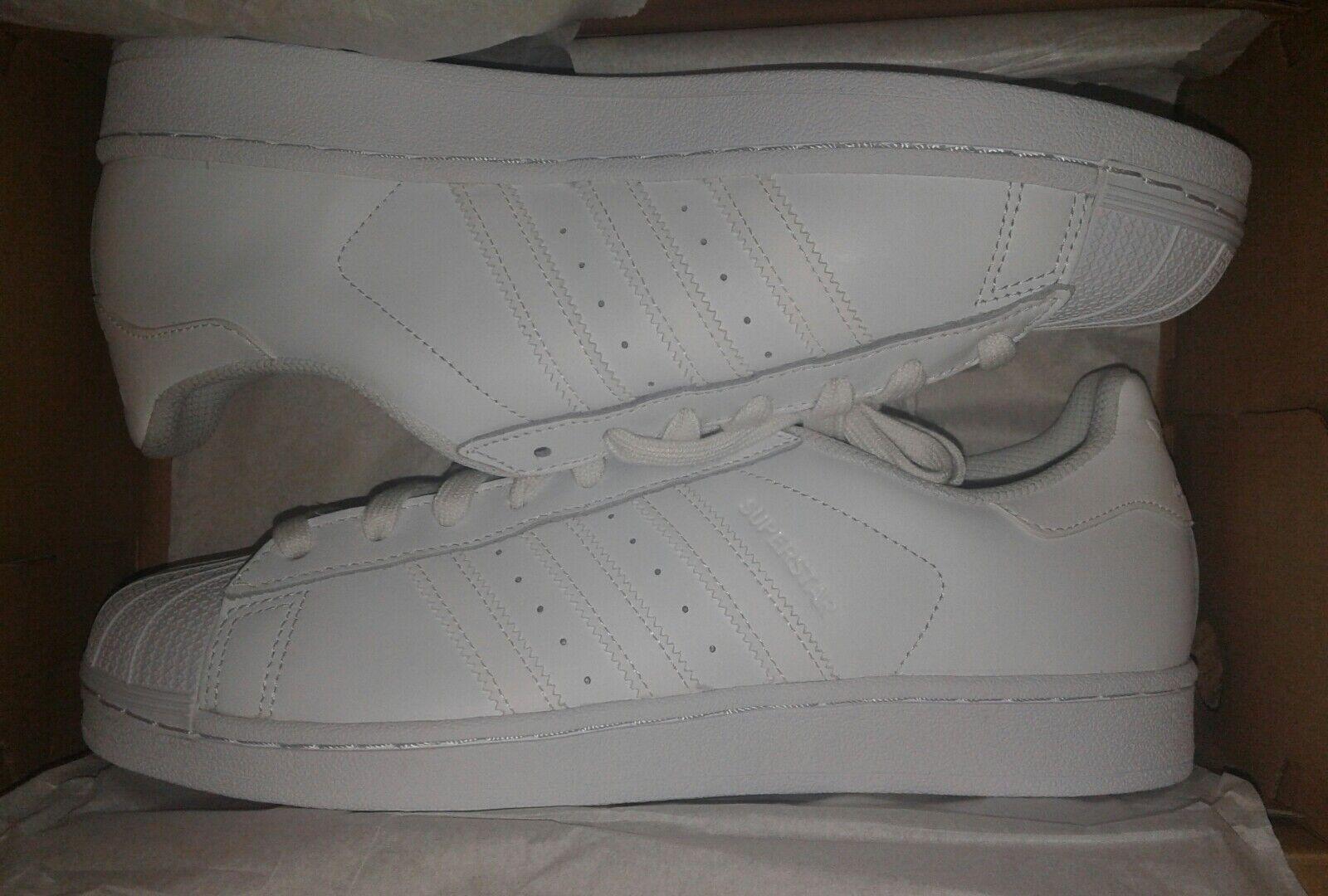 Adidas Originals SuperStar Foundation B27136 Triple White Men's Size 9.5
