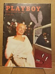Playboy-October-1957-Good-Condition-Free-Shipping-USA