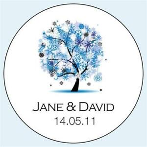 Personalised-Wedding-Stickers-Labels-Any-Colour-5-sizes-Winter-Tree-041