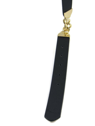 Nautica Women/'s Chain Accent Belt Navy//Gp Size Small New