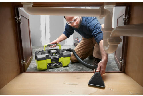 Cordless Wet Dry Shop Vacuum Vac Utility w Accessory Hose Storage 18v Tool RYOBI