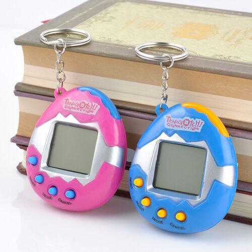 90S Nostalgic 49Pets Virtual Cyber Pet Game Child Toy Key Tamagotchi Buckle #J01