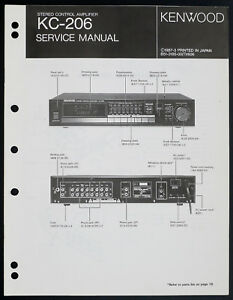 image is loading kenwood-kc-206-original-stereo-amplifier-service-manual-