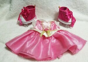 Build-A-Bear-Princess-Aurora-Dress-Sleeping-Beauty-And-Pink-Roller-Skates