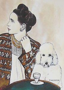 SIMONE-DE-BEAUVOIR-Fine-Art-Print-by-Marianne-L-039-Heureux-gold-added