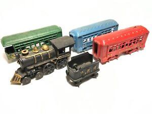 Vintage-Pennsylvania-Rail-Road-Cast-Iron-4-Car-Washington-44-Train