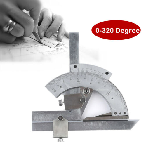 320º Universal Bevel Protractor Machinist Angle Finder Measurement Accurate Tool