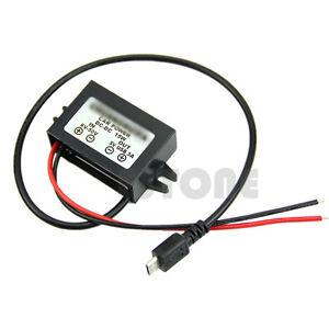 Details about Output DC-DC Power Adapter Micro USB 8-50V to 5V 12V/24V to  5V Converter Module