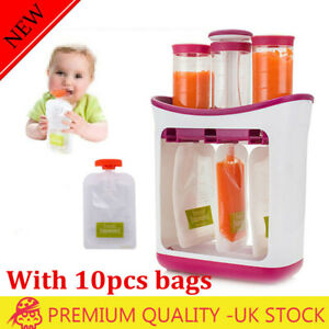 UK Infant Baby Food Feeding Station Maker Pouches Homemade Fresh Squeeze Storage