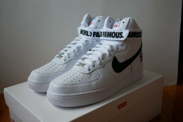 new product 47dd2 dcb78 Supreme Nike Air Force 1 High SP White Size 10.5 DS AF1 2014 off white New