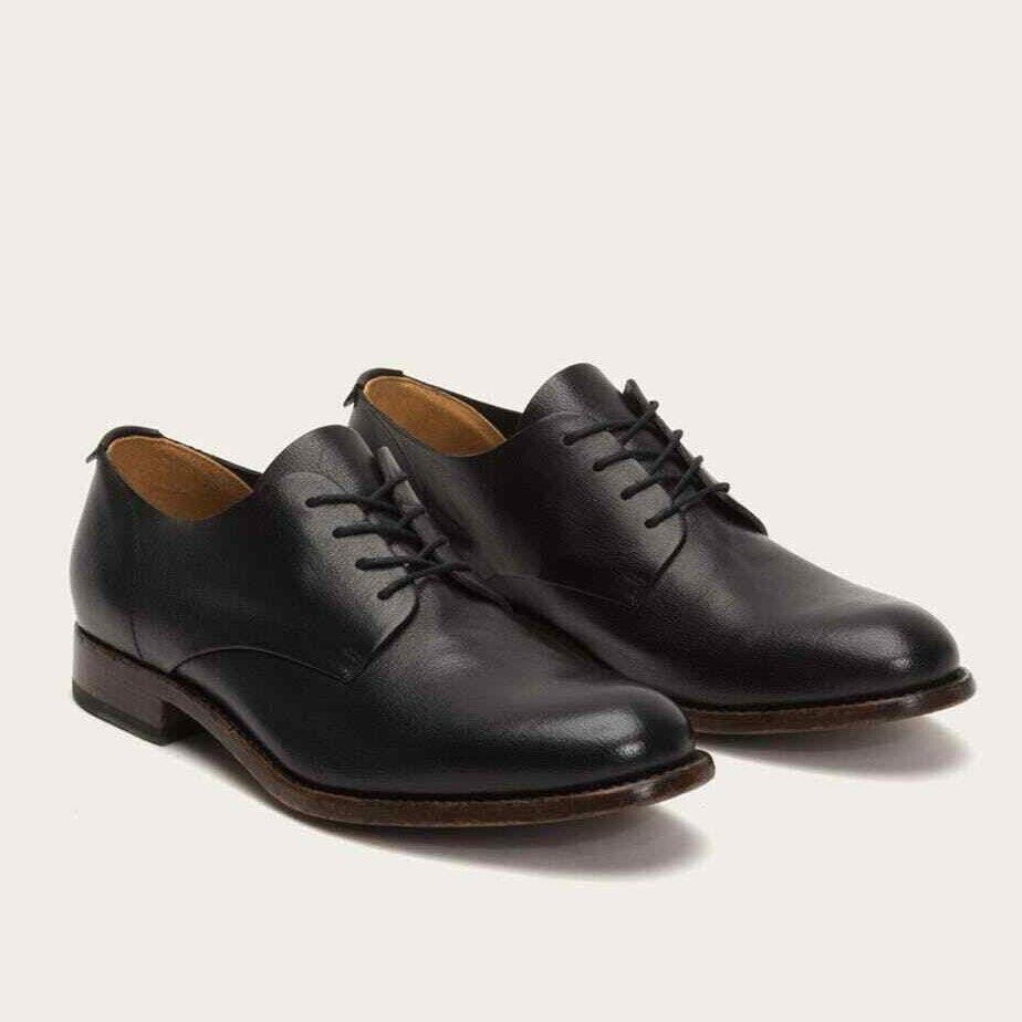 FRYE Men's Harrison Oxford Dress scarpe, nero Pebbled Leather, Sz. 11.5,  458