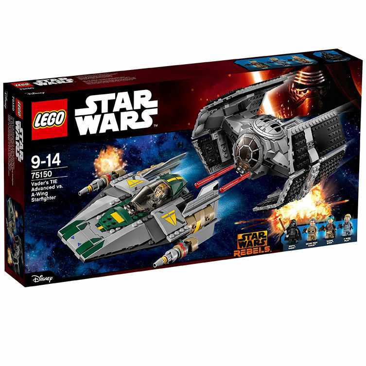 Lego Star Wars 75150 Vader's tie Advanced vs. a-Wing starfigh nuevo