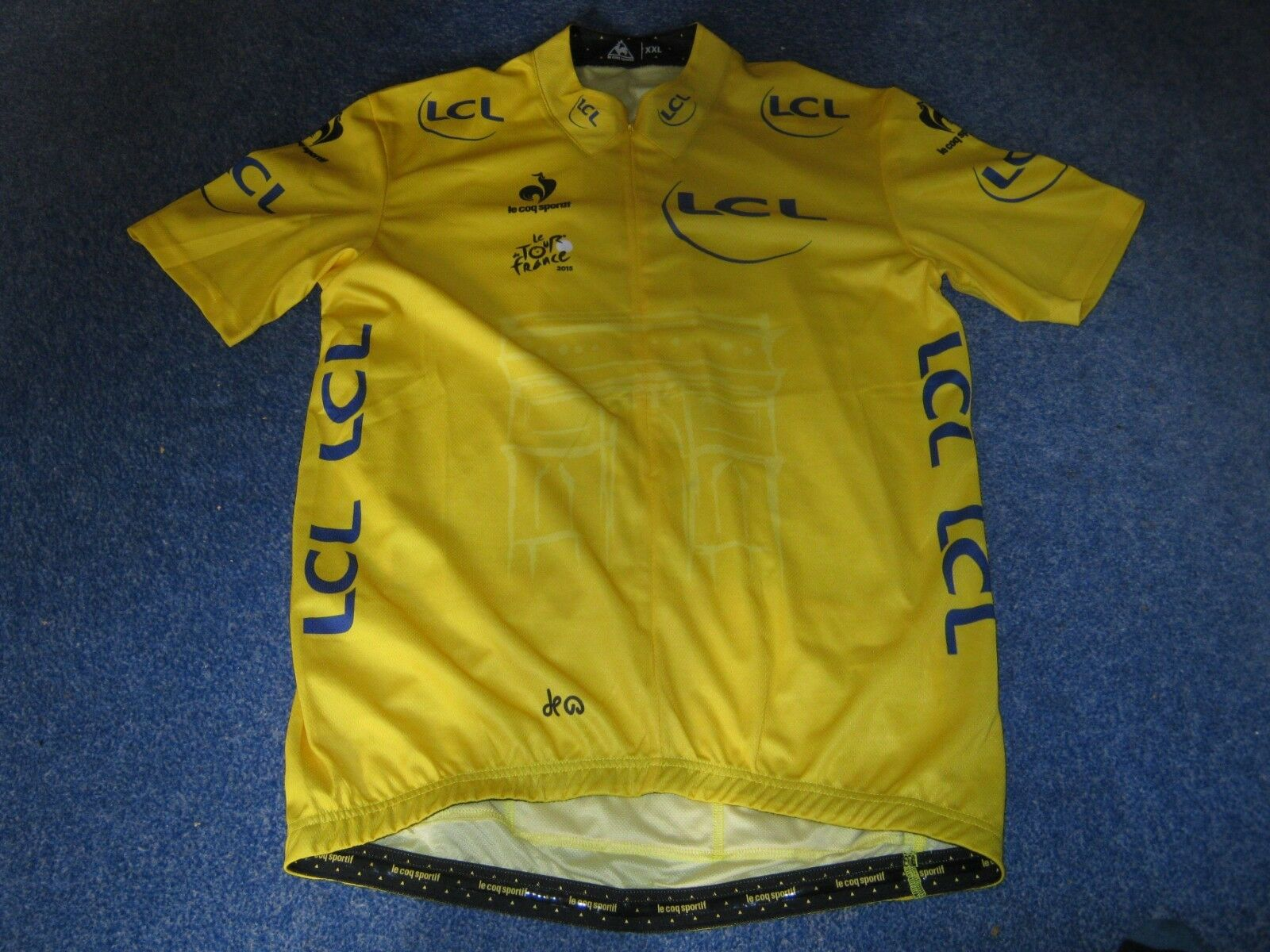 TOUR DE FRANCE 2015 LCS Gelb LEADERS CYCLING JERSEY  UNUSED