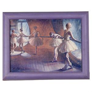 """"""" Ballet Soirée Classe """" Par Anthony Sidoni 2002 Signée Oil On Toile"""