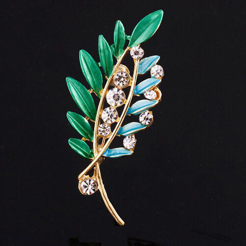 Dainty Graceful Leaf with Crystals Enhanced High Fired