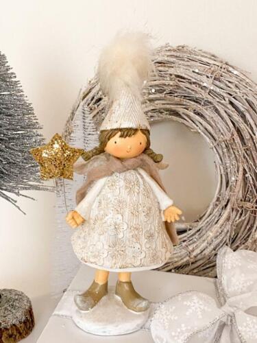 Nostalgie Fille Ange de Noël Personnage Noël Christmas déco shabby chic