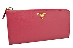 690-PRADA-rose-fuchsia-Saffiano-Metal-Cuir-Fermeture-Eclair-Portefeuille-New-Collection