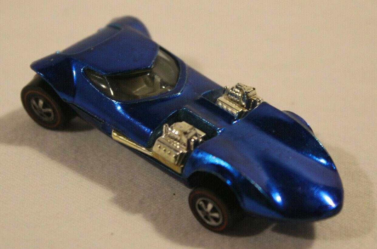 1968 Vintage caliente ruedas 68 rossoline Twinmill Mettuttiic blu bianca Interior
