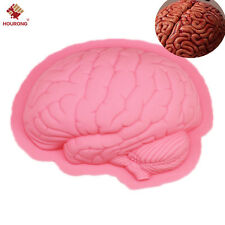 1Pcs Halloween Zombie Brain Silicone Mold Fondant Cake Mould Soap Cooking Tools