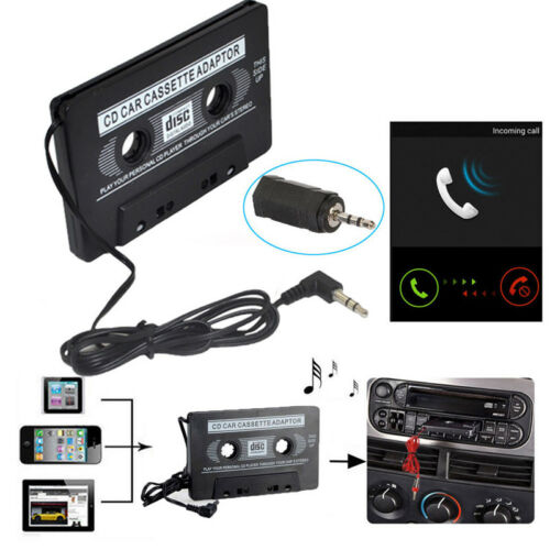 Car Music Audio Cassette Tape Aux Adapter 3.5mm Plug for iPhone iPod MP3 Player