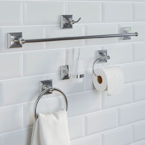 Chrome-Bathroom-Accessories-Set-Square-Traditional-Concealed-Fittings-Wall-Hung