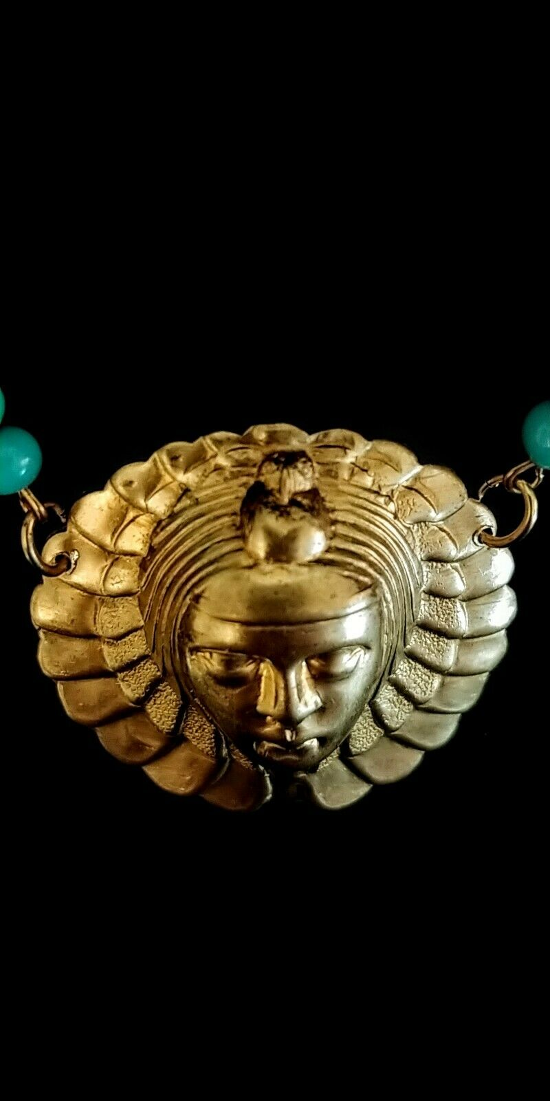Vintage Egyptian Revival Necklace - image 5