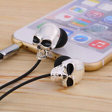Cool Skull Heads 3.5mm Port Earphones Earbuds Headset For MP3 Phone iPads MC