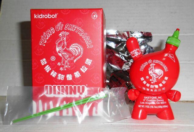 Kidrobot Sketracha 3-inch Dunny Vinyl Figure Sket One Sriracha Clear Version